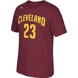 Lebron James Cleveland Cavaliers Burdeos Jersey nombre y número camiseta - A57400, XL, Granate