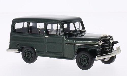 Willys-overland Wagon (Willys Overland Station Wagon-4WD, metallic-dunkelgrün, 1952, Modellauto, Fertigmodell, Brooklin 1:43)