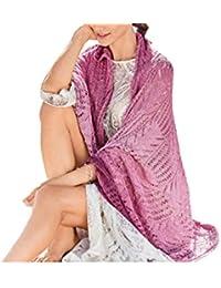 Emmay Primavera Verano para Mujer Moda Esencial Playa Poncho Pareo clásico para Mujer de Punto Color sólido Bikini Cover Up Toalla de…
