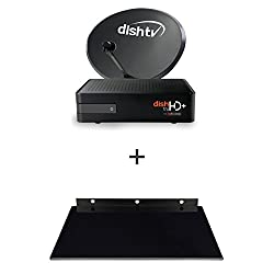 Dish TV HD+ Recorder Connection with 1 Month Titanium Sports HD Pack and Premium Glass Stand
