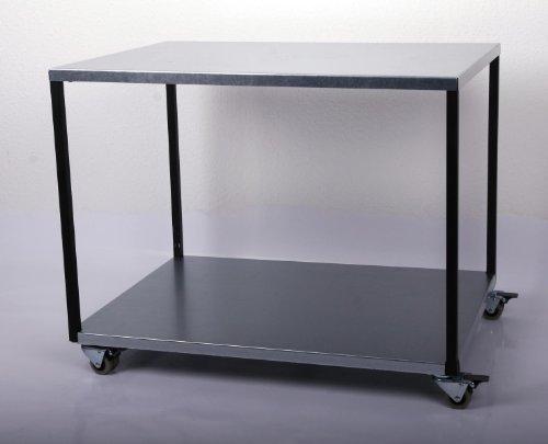 Rollwagen/Verpackungstisch HxLxB: 68x80x60cm, 2 Böden, verzinkt