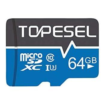 Tarjeta Micro SD 64GB, TOPESEL Tarjeta Memoria Alta Velocidad 85 ...