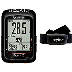 Bryton Rider 410h GPS Ciclismo, Unisex Adulto, Negro, M