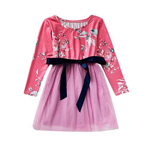 Tochter Teenager Mutter Und Kostüm - Prinzessin Kleider für Mädchen Blume Print Partykleid Hochzeit Minikleid Schönes Heligen Mutter Tochter Kleider Matching Outfits Familien Kleidung Spitzen Prinzessin Kleid