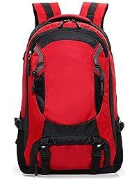 RMXMY Moda Simple Bolsa de Hombro para Hombre Bolsa de montañismo al Aire  Libre Personalidad Creativa Gran Capacidad Impermeable Ocio… f701f9d3412b9