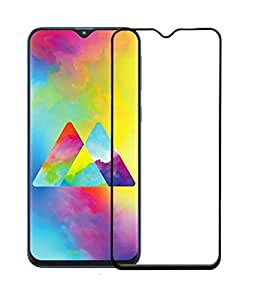 Remembrand 9H+ High Definition Edge to Edge Tempered Glass for Samsung Galaxy M20 (Pack of 1, Black, Full Glue)