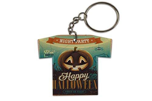 Schlüsselanhänger Jahreszeiten Halloween Trikot bedruckt