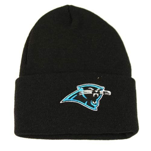 Reebok Carolina Panthers Classic Cuffed Knit Hat in Schwarz