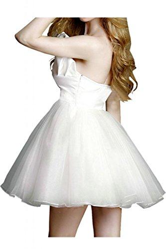 Sunvary asimmetrica scollo Organza bianco da ballo Abito da Cocktail, per feste Bianco