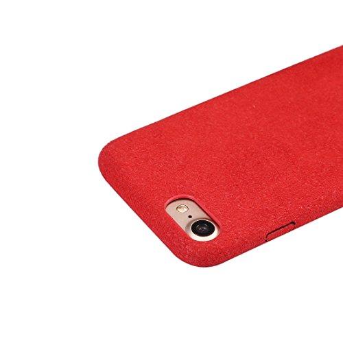 GR Ultra Fiber + PC schützender rückseitiger Abdeckungs-Fall für iPhone 7 ( Color : Red ) Red