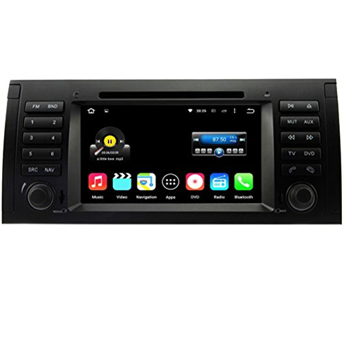 Top Navi 7inch 1024*600 Android 5.1.1 Car DVD Player for BMW 5 E39 1996-2001 (Old 17-Pin connector)(X5 / M5)BMW 5 E39 2002-2003 (new 40-Pin connector) X5 E53 2000-2001 (Old 17-Pin connector) X5 E53 2002-2007 (new 40-Pin connector)BMW 7-serie 1994-2001 E38 Range Rover (2002-2004) Auto GPS navigation Wifi Bluetooth Radio 1.6 GB CPU Rockchip RK3188 Cortex A9 DDR3 Capacitive Touch Screen 3G car stereo audio Phonebook RDS AUX DVR Mirror Link 16GB Quad Core