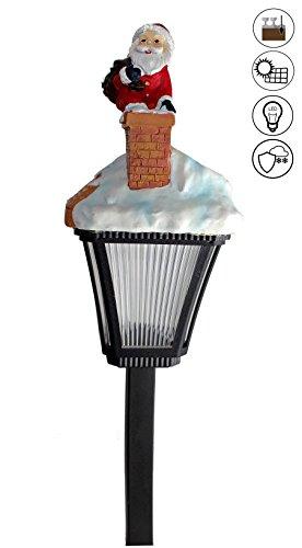 ABC Home Garden Weihnachtsmann Solarleuchte Solarstecker Weihnachtsdeko LED Solarbetrieben EIN-& Ausschalter Lichtsensor, Mehrfarbig, 14,5x13x52,5 cm