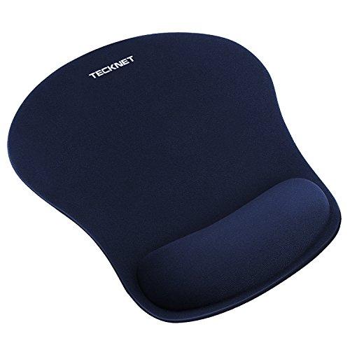 TECKNET Mauspads, Leise Mausmatte Ergonomisches Komfort Mousepad mit Handgelenkauflage