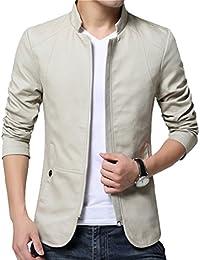 LeeHaru Homme Veste Blazer Vestons Slim Fit Costume Jacket Blouson Casual