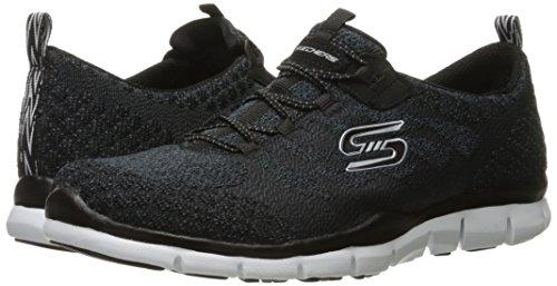 Skechers Sport Gratis Hit It Big Fashion Sneaker Black/White Knit