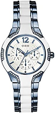 Guess Sport Watch for Women, Stainless Steel Case, White Dial, Analog -W0556L9