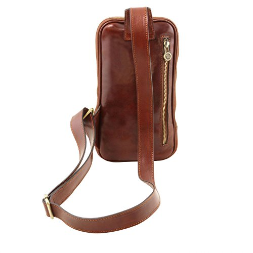 Tuscany Leather Martin Brusttasche aus Leder Dunkelbraun Dunkelbraun