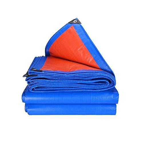 QFFL Abdeckplane Outdoor-Plane, Blau-wasserdichte Mehrzweck-Hochleistungsplane für Regenschutz-Bodenbeläge für Wohnmobile Oder UV-Planen für Schwimmbecken mit Unterlegscheibe (Size : 5x5m)