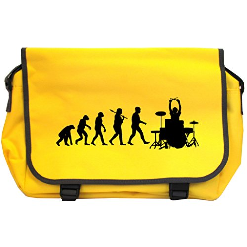 Evolution of a Drummer Messenger Bag - Sonnenblume gelb -