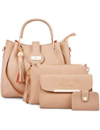 Speed X Fashion Women Hand Bag With Combo Cream