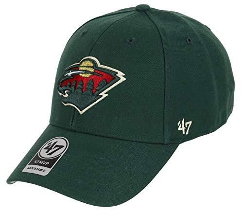 New Era 9Forty U47 Brand Minnesota Wild Adjustable Cap Mvp Nhl Dark Green - One-Size -