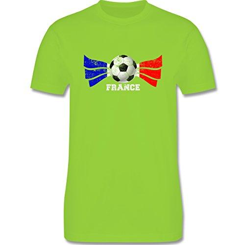 EM 2016 - Frankreich - France Fußball Vintage - Herren Premium T-Shirt Hellgrün
