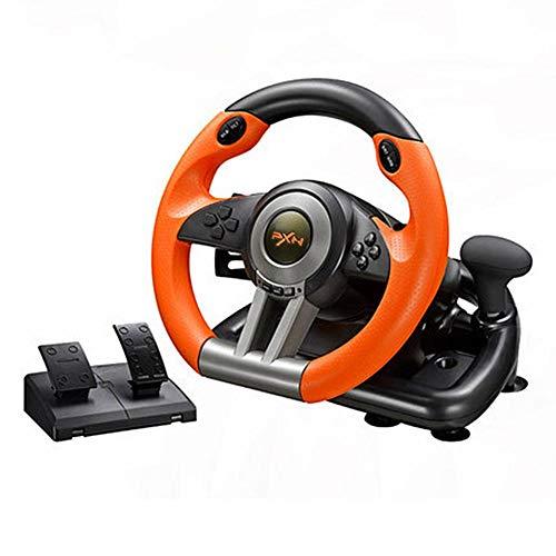 kengbi Spielrad mit Pedalen, Reaktiv, Rennrad, für Auto, für die Schule, PC/PS3/PS4/X-One -