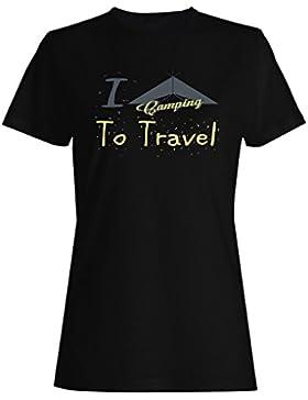 Nueva Campaña De Viajes I Love Travel camiseta de las mujeres l730f