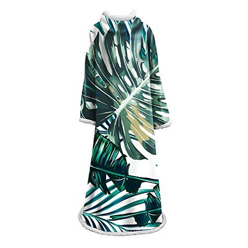 ZHEN Deluxe Wearable Blanket für Erwachsene - Elegante kuschelige extraweiche Plüschdecke - Ideal für Kleidung, Rollstühle oder Fernsehen,D2,127 * 178CM -