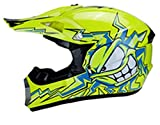 QianXuJi Moto Adulte Moto Hors Route Casque Dirt Bike Downhill MTB Racing Casque Q01-3 S