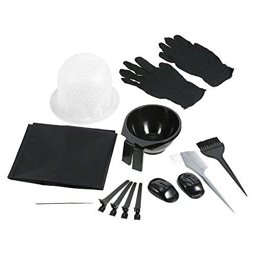 Anself Kit de Pelo Tinte para Colorear Cepillo Peluquería Delantal Pelo Cap Gancho Clips de Peluquería para Seccionar Teñido Herramienta
