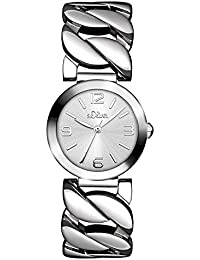 s.Oliver Damen-Armbanduhr Analog Quarz Edelstahl SO-3091-MQ