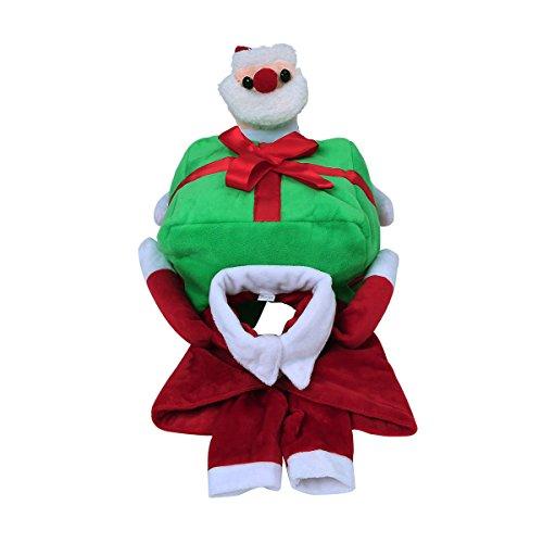 Freebily Haustier Hund Katze Santa Claus Kostüm Welpen Weihnachtsmann Kostüm Hundekostüm Hunde Pullover Mantel Lustig Kleidung Rot&Grün 15.0