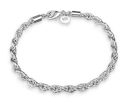 Hosaire 1x Armband Frauen Silber Smooth Binding Sling Armbänder Mädchen Ladies Jewelry Geschenke
