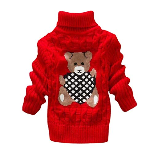 LEXUPE Baby Schneeanzug Jungen Strampler Mädchen Overall Winter Babykleidung(Rot,110)