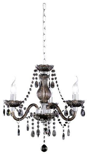 Reality Leuchten Kronleuchter Lüster 3-flammig / aus Acryl in schwarz / 3x E14 maximal 40 W ohne Leuchtmittel / ø: 40 cm R11073002