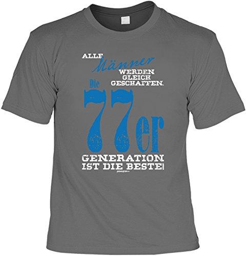 Cooles T-Shirt zum 40. Geburtstag Männer 1977er Generation ist die Beste Geschenk 40 Geburtstag 40 Jahre Geburtstagsgeschenk 40-jähriger Anthrazit