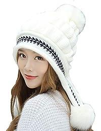 Tukistore Cappello Berretto Donna Inverno Elegante Beanie in Lana a Maglia 3266e75ca0a2