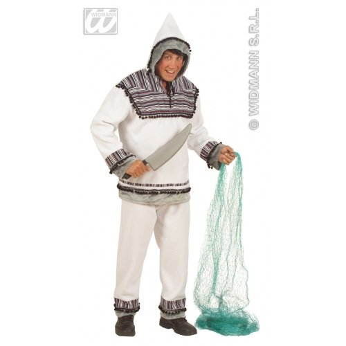 WIDMANN wdm5715a-Kostüm für Erwachsene Eskimo, Weiß, - Weiße Kostüm Eskimo