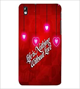 PrintDhaba Quote D-2693 Back Case Cover for HTC DESIRE 816 (Multi-Coloured)