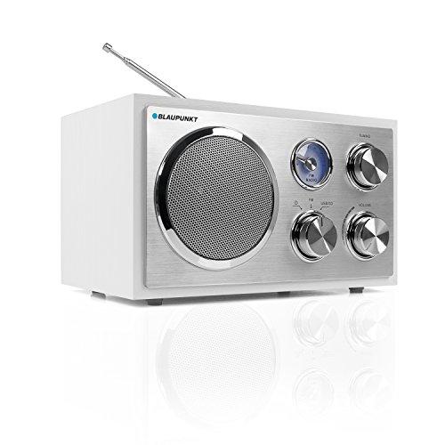 Blaupunkt Retro Radio RXN 19 |Nostalgie-Designradio mit USB-Port 2.0 und SD Kartenleser | UKW/ FM Küchenradio | Kofferradio mit Holzgehäuse | Teleskopantenne | Analog-Tuner | beleuchtete Senderskala