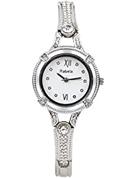 Rabela Analog White dial Sliver Chain Women's Watch RABSLV001