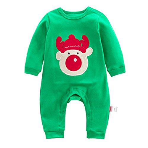 Mädchen Jungen Weihnachten Kleidung set Neugeborene Baby 100%Baumwolle Pyjamas Tier Art Kostüme Outfits Juleya 9-12 Monate (Gut 11 Jahre Alte Halloween Kostüm)
