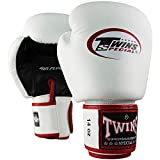 Twins Special Boxhandschuhe, Leder, AIR, weiß-schwarz