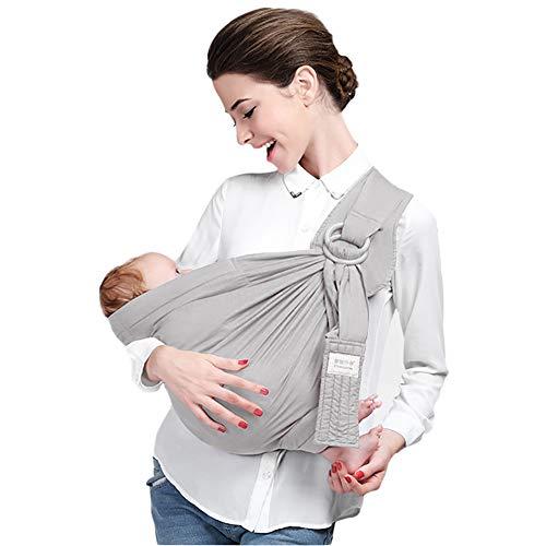 ACEDA Babytragetuch Kindertragetuch Babybauchtrage Sling Tragetuch Für Baby Neugeborene Innerhalb 15 KG,Gray