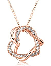 Yiwu Crystal White 18k Rose Gold Metal Chain/Pendant Fashion Jewellery For Women