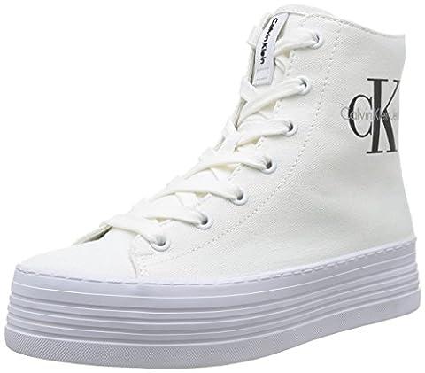 Calvin Klein Jeans ZABRINA CANVAS, Damen Sneakers, Weiß (WHT), 40 EU (Calvin Klein Sneakers)
