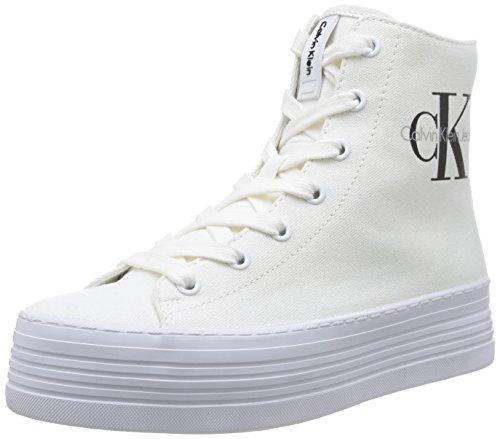 Calvin Klein Jeans Zabrina, Baskets Femme, Blanc (WHT), 38 EU