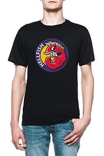 Hellfish Herren Schwarz T-Shirt Größe M | Men's Black T-Shirt Size M (Simpson Marge Kleid)