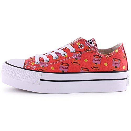 Converse All Star Platform Donna Sneaker Rosa Pink